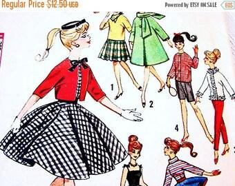 on SALE 25% Off 1960s Barbie Doll Clothes Pattern fits Barbie Midge Tammy Mitzi Vintage Sewing Pattern