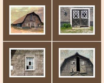 CIJ SALE Vintage Barn Photos, Country Vintage Barn,  Rustic Barn Photos, Barn Collection, Farmhouse Decor, Country Art Decor, Rustic Art Wal