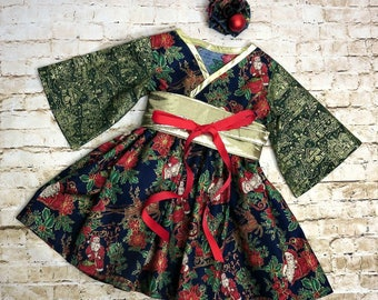 Girls Holiday Dress - 2T Ready to Ship - Girl Christmas Dress - Holiday Dress for Girls - Toddler Dress - Boutique Dress