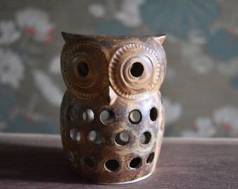Vintage Owl Pottery Figurine