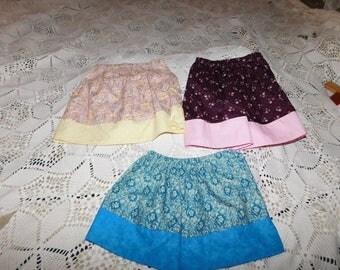 Toddler Girl Simple Skirts Spring Summer Skirts Every Day Skirt Shabby Chic Skirts Day Care Skirt Play Skirt  Birthday Gift Sz 3T