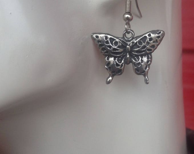 Butterfly earrings made with Australian Pewter and Surgical Steel hook