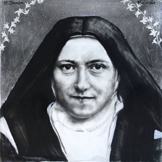 Saint Therese of Lisieux, The Little Flower- original drawing