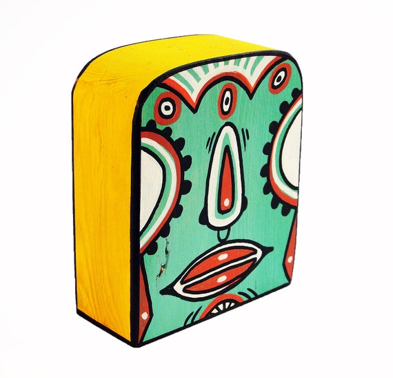 Funk Totem Part No. 263 - Original Mixed Media Block - Vol. 12