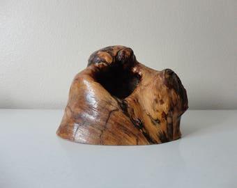 VINTAGE chunk of BURLWOOD - natural sculpture - plant display piece