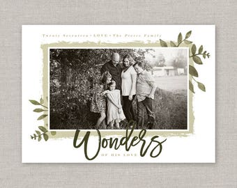Wonder of his Love Christmas Photo Card
