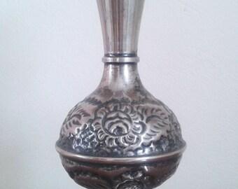 Metal Rose Vase - Vintage Metal Rose Vase - Vintage Handmade Metal Vase - Vintage Handmade Vase 1940's - Made in Balkans
