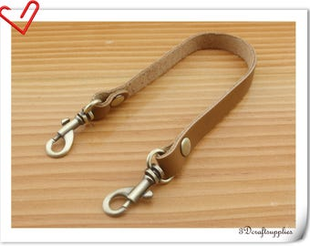 31cm Genuine  Leather wristlet  strap Wrist straps Handle with lobster clasp CF82A