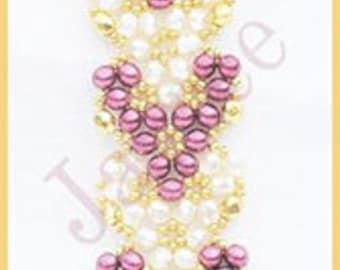 Beading Tutorial - Sweethearts bracelet - Triangle weave