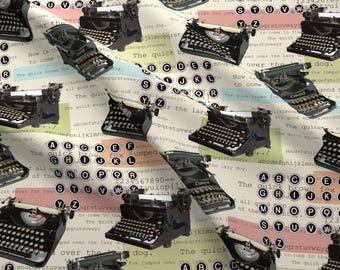Retro Technology Fabric - Typewriter By Littlerhodydesign - Typewriter Technology Home Decor Cotton Fabric By The Yard With Spoonflower
