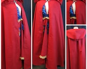 Morgan Cloak - Red Twill - Ready To Ship - Odd Bodkin