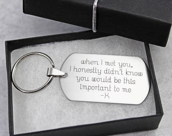 Engraved Dog Tag Keychain - Personalized Keychain - Personalized Gift For Boyfriend - Keychain For Women - Dog Tag Keychain - Gift For Men