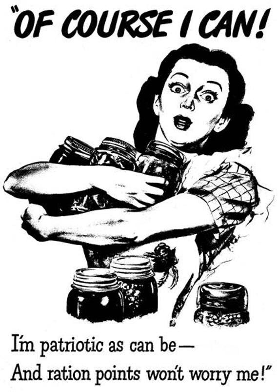 "house wife canning jars war military propaganda png Digital graphics clipart image printable 4 "" x 6"""