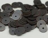 Coupelles Vintage, 100 ton cuivre laiton ronde trou du milieu charmes résultats perle Caps (8mm) K026