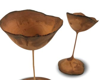 The Apple of Each Others Eye - Apple Goblets - Handmade Wood Goblets - Apple Wood