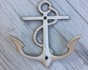 UNMOUNTED anchor beach towel rack sailor boat cabin lake river cottage nautical Outer Banks OBX beach towel holder Beach House Dreams