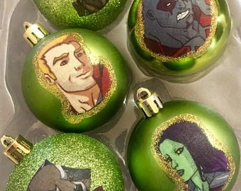 Guardians of the Galaxy inspired Christmas Ornaments