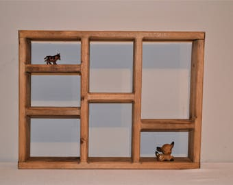 Vintage Wood Cubby / Wall Shelf / Organizer / Display / Crate Style