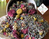 Potpourri Herbal Blend, Organic Chamomile, Lavender and Red Roses- Bulk (4 ounces) make scented sachets, bath tea & bridal shower favors