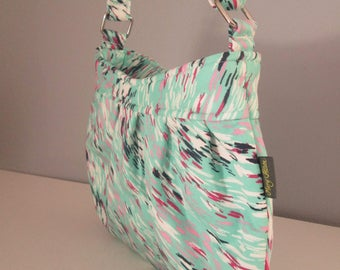 Small Shoulder Bag, Blue Crossbody Purse, Small Crossbody Bag, Messenger Bag, Adjustable Strap, Hobo Handbag