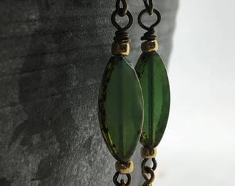 Super dangly Bohemian Style Earrings, Handcrafted Earrings, Czech Glass Earrings, Niobium Ear Wires, Earrings, Tracee Dock, The Classic Bead