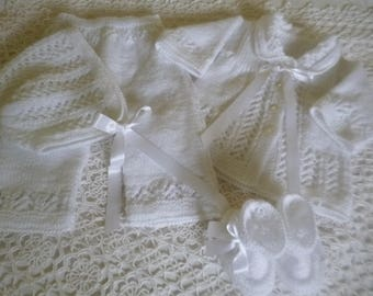 Christening Outfit, Baptism Outfit, Coming Home, Knitted Outfit, Newborn Suit, Newborn Set, Unisex Outfit, Take Home.
