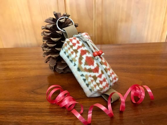 Wool Keychain Toiletry / Dopp Pouch / Purse Ornament Wheat Mini Chief Joseph