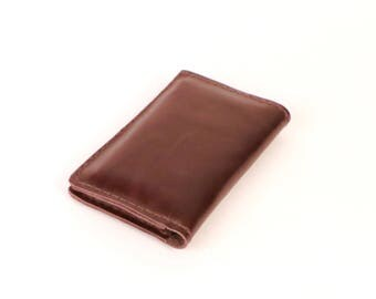 Brown Waxed Leather Wallet