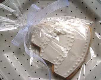 Simple  Elegance - Wedding Cake Cookie Favors - Wedding Cake Cookie Favors - Wedding Cookie Favors - 4.00 each