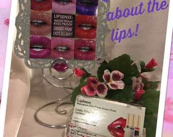 Lip Boss  sign holder and business card holder ~  Lip Display Counter display wire card holder for LipSense and more!