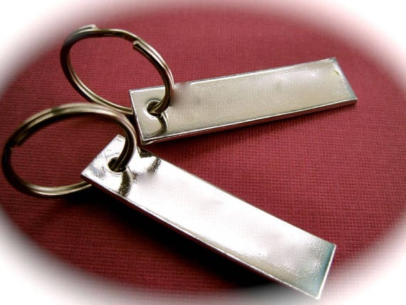"150 Blanks 1/2"" x 2"" Keychain 14 Gauge Stamping Blanks 1100 Pure Aluminum Food Safe 3mm Hole - QTY 150"