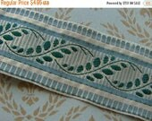 ON SALE This Belongs to Jane Please do not purchase Vintage Gorgeous Green Blue Silk and Metallic Trim Ribbon Last One
