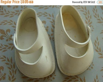 ON SALE Vintage Antique 1950s Fairyland Rubber Doll shoes for Composition Doll N0 42