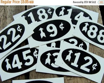 ON SALE Vintage Price Tags DOZEN