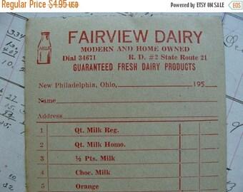 ONSALE Antique Dairy 1950s  Unused Ephemera Lot