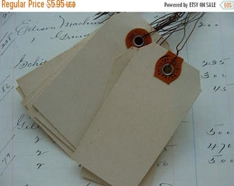 ONSALE 6 Antique 1940s Dennison Wired Tags