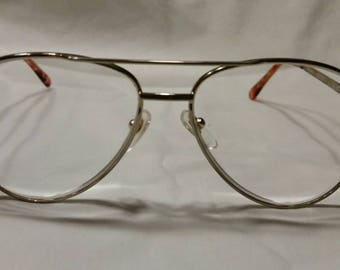 Vintage Foster Grant reading glasses, gold frame