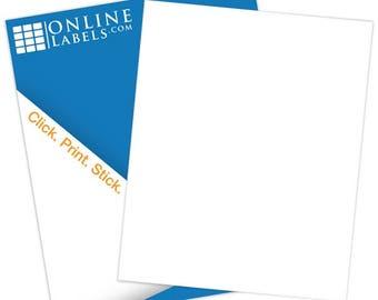 "Printable Blank White Gloss Sticker Paper (100 Sheets) - 8.5"" X 11"" (For Inkjet Only)"