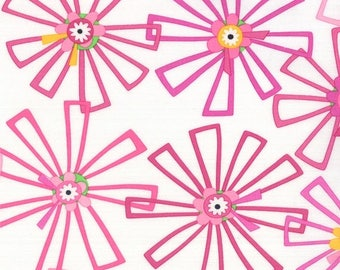SALE Pink Large Flower Hubba Hubba Fabric - Moda - Me and My Sister