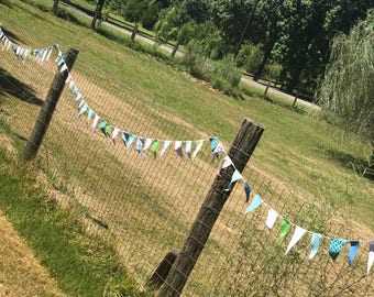 Party Decor Bunting Decorative Flags Scrappy Decoration Garland