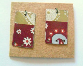 Upcycled Contemporary Decorative Tin Earring Findings