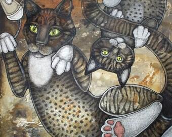 Original Cat and Kitten Artwork by Lynnette Shelley