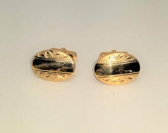 Anson Vintage Cuff Links Cufflinks Gold tone