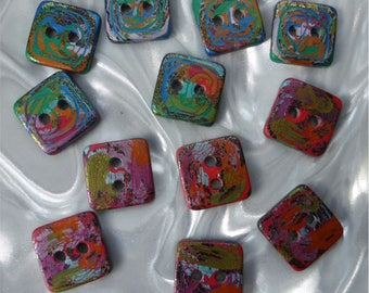 12 unusual funky handmade buttons (set12b_0118)