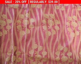 Antique French Silk Fabric Victorian Dress Fragment