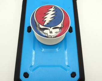 Grateful Dead PopSocket Gift, For Music Fans, Stealie Photo Art , Deadhead Phone Grip, Music Cell Phone Stand, Photo PopSocket with Dome