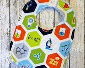 Periodic Table Baby Bib - Chemistry Theme Thick Bib - Science Theme Newborn Baby Gift - Nerd Baby - Teacher Baby Shower Gift
