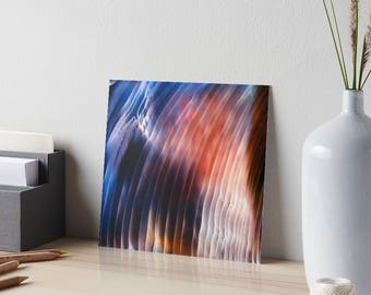 Encaustic Northern Lights Art Board / Art for Small Spaces / Collectible Small Format Art / Aurora Borealis / Made to Order in 3 Sizes