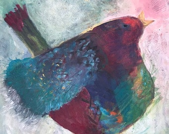 Bird Song Acrylic Painting