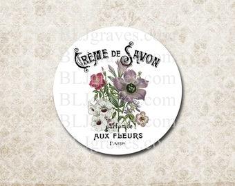 Stickers Envelope Seals Paris Flowers French Wedding Party Favor Treat Bag Sticker SP064